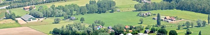 2014: Luchtfoto van de plek van de toekomstige moestuin.