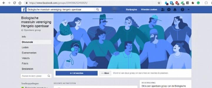 Facebook Biologische Moestuin Vereniging Hengelo