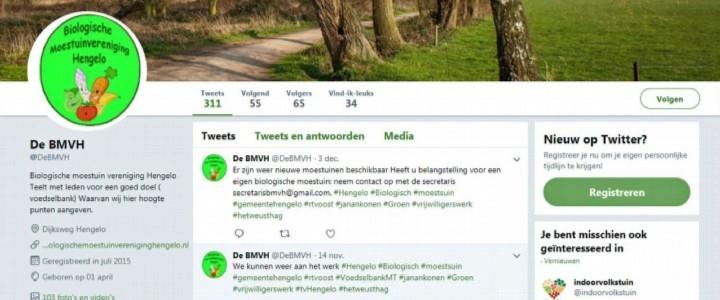 Twitter Biologische Moestuin Vereniging Hengelo